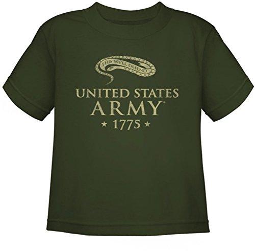 Army-Juvy We'Ll Defend-Maglietta a maniche corte Verde militare Large