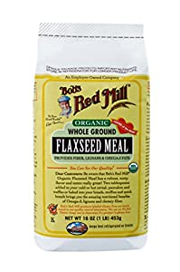 Bob's Red Mill Organic  Flaxseed Meal, 16-Ounce Packages (Pack of 4)