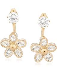 VK Jewels Flower Gold Plated Alloy Drop Earring Set For Women & Girls -ERZ1343G [VKERZ1343G]