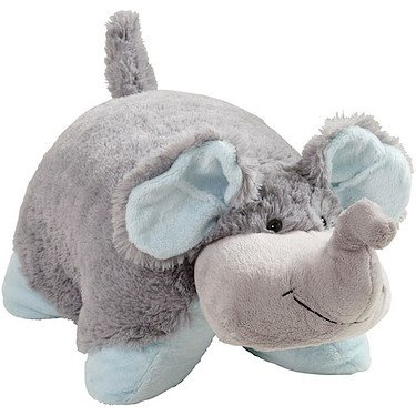 My Pillow Pets Nutty Elephant - Large (Grey with Blue) - 41OqbST 2BP0L - My Pillow Pets Nutty Elephant – Large (Grey with Blue)