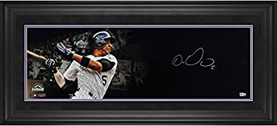 Carlos Gonzalez Colorado Rockies Framed Autographed Film Strip Panoramic - Fanatics Authentic Certified