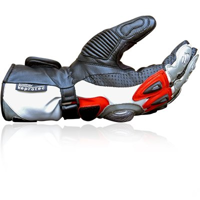 Cowhide Leather Motorbike Motorcycle Biker Gloves Medium