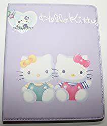 kathy Store INC Cute Cartoon Hello Kitty PU Leather Folding Stand Flip Folio Case Cover for Apple Ipad 2/3/4 Protector Case (Hello Kitty Case 10)