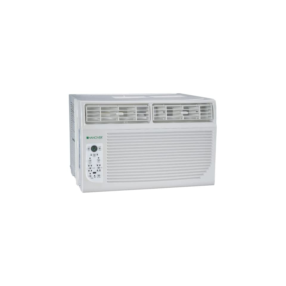 Hanover HANAW08A Energy Star 8,000 BTU 115 Volt Window Mounted Air Conditioner with Follow Me LCD Remote Control