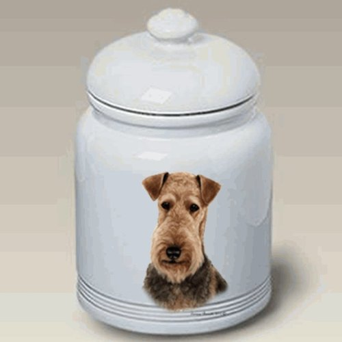 Airedale Terrier: 10 Ceramic Treat Jar. New 2013 Design! kiss of crimson the midnight breed book 2