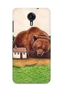 Amez designer printed 3d premium high quality back case cover for Micromax Canvas Xpress 2 E313 (Guardian Bear)