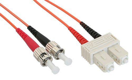 InLine LWL Duplex Kabel, ST/SC, 2m