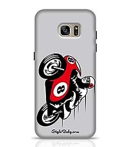 Cover Designs for Galaxy S7 Racing Motorbike -Samsung Multicolor