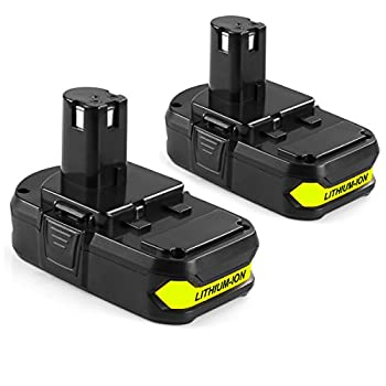 Energup 2 Pack 2000mAh Ryobi 18V Lithium Battery Replacement for Ryobi P104 P105 P102 P103 P107 P108 Tools battery