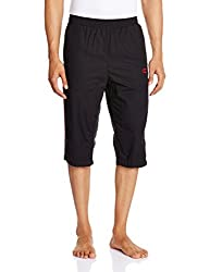 Champion Men's Regular Fit Track Pant (8907350027294_1000206303003_S_Jet Black and Candy Red)