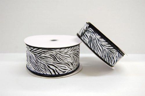 "2.5"" By 25 yd WIRED Zebra Ribbon"