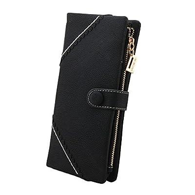 FUNOC® Women Fashion Leather Wallet Button Clutch Purse Lady Long Handbag Bag
