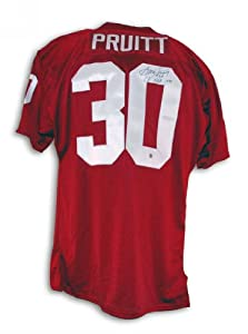 Greg Pruitt Oklahoma Sooners Autographed Throwback Jersey Inscribed CF HOF 1999 by Athletic+Promotional+Events+Inc.