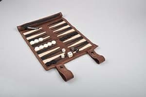 Sondergut Roll-Up Suede Backgammon Game (Color-Mocha)