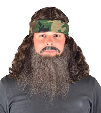 Amazon.com: My Costume Wigs Duck Dynasty Phil Set One Size Fits All