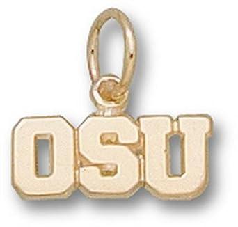 Oregon State Beavers OSU 3 16 Charm - 14KT Gold Jewelry by Logo Art