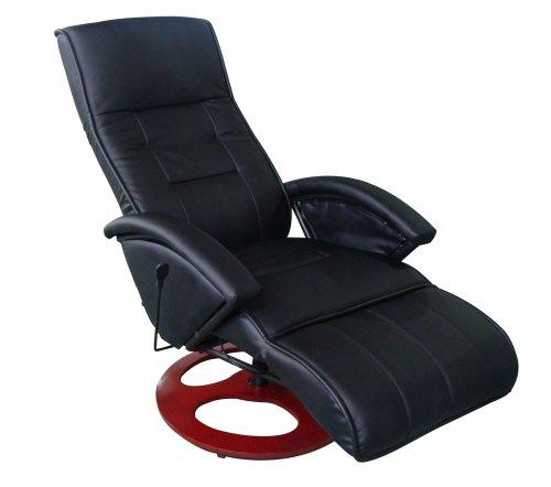 Massagesessel Fernsehsessel Relaxsessel Massage+Heizung TV Sessel SCHWARZ