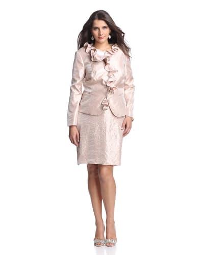 Adrianna Papell Plus Women's Ruffle Collar Jacket