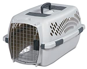 Petmate Pet Porter, Traditional Kennel, For Pets 15-20 Pounds, Light Gray