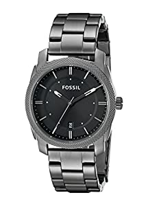 Fossil Men's FS4774 Machine Three Hand Stainless Steel Watch - Smoke