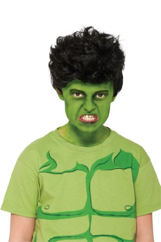 Rubies Marvel Universe Classic Collection Avengers Assemble Child Size Incredible Hulk Wig