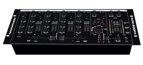 Marathon DJm-200Fx 4-Channel 19-Inch Mixer, Vocal
