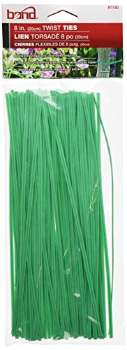 Bond 1180 Plastic Coated Twist Tie, 8-Inch Length, Pack of 100 (8 Twist Ties compare prices)
