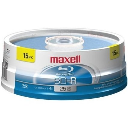 Maxell 631012 Blu-Ray Disc (15 Pack)