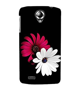 Vizagbeats red and white flowers Back Case Cover for Lenovo 820