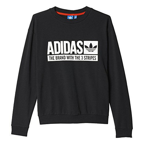Adidas Light Sweatshir Felpa da Donna, Nero, 48