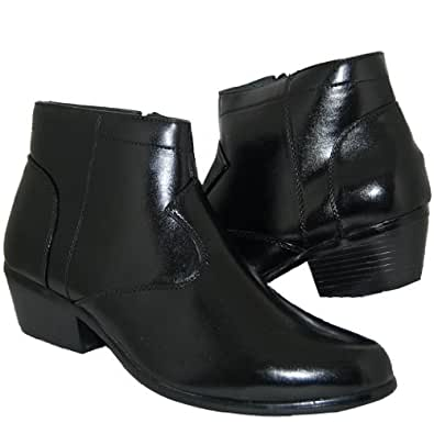 retro style 2 inch cuban heel boots shoes