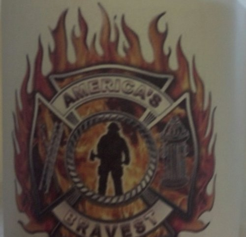 Maltese Cross Flames Firefighter 11 Oz Coffee Mug