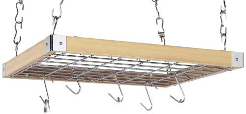 Image of Concept Housewares Square Hanging Pot Rack (PR-40293-PARENT)