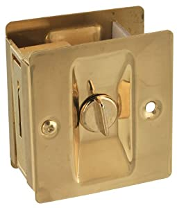National Hardware V1951 Pocket Door Latch in Solid Brass