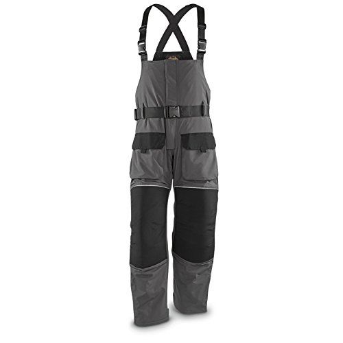 Guide Gear Men's Cold Weather Insulated Waterproof Bibs, Black/Gray, M (Guide Gear Insulated Pants compare prices)