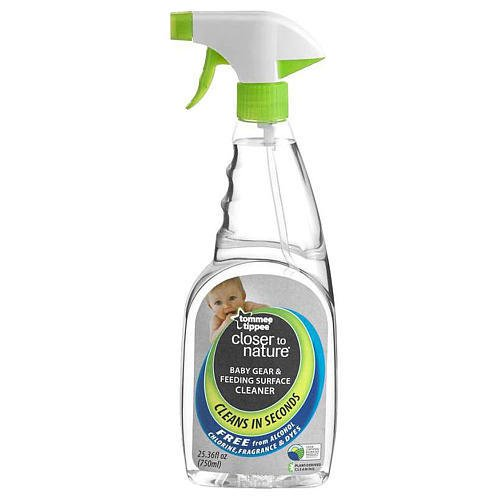 Tommee Tippee Liquid Cleaning Spray Baby Gear, Feeding and Playing Surface Cleaner 2 Pack 750ML(25.36 fl oz.) Each