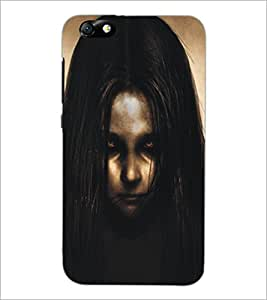 PrintDhaba Scary Girl D-5300 Back Case Cover for HUAWEI HONOR 4X (Multi-Coloured)