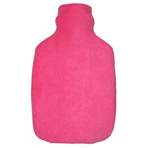 Warm Tradition Cuddly Pink Fleece Covered Hot Water Bottle - Bottle made in Germany, Cover made in USA