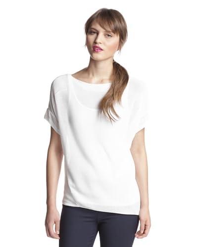 Elie Tahari Women's Gigi Asymmetrical Hem Sweater