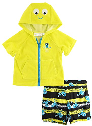 Wippette Baby-Boys Newborn Octopus Cover-Up Set, Acid, 6-9 Months