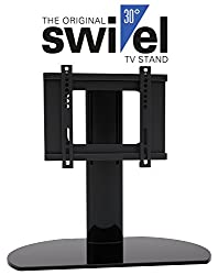 HTA2037 Universal Replacement TV Stand Base With Swivel Feature fits most 20 -37 TVs Flat Panels LCD LED