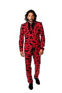 Bat Guy Halloween Suit - OppoSuits(TM), suit size UK38/EU48 (includes jacket, trousers and tie) Fancy Dress / Costume