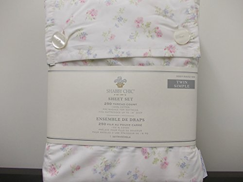 Simply Shabby Chic Sheet Set, Candy Floral - Twin (Shabby Chic Sheets compare prices)