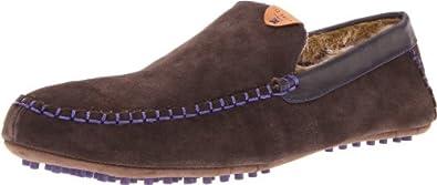 Ted Baker Men's Carota 2 Moccasin Slipper, Brown, 7 M US