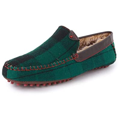 Ted Baker Carota 3 9-12729 Mens Slip On Fabric Slippers Green Black - 12