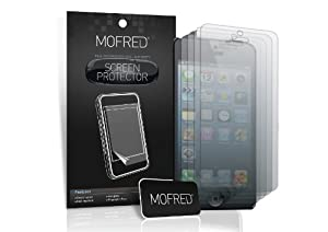 MOFRED® 12 in Pack Screen Protector Value Pack For Apple iPhone 5 Retail Packed with Cleaning Cloth and Application Card