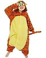 Samgu-Tigger Unisex Adult Pajamas Kigurumi Cosplay Costume Animal Onesie Sleepwear Dress