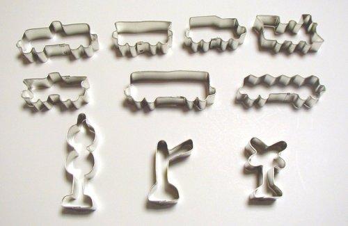10 Pc. Train Cookie Cutters