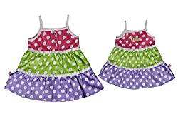 TOFFY HOUSE Multicolor Frock for Kids
