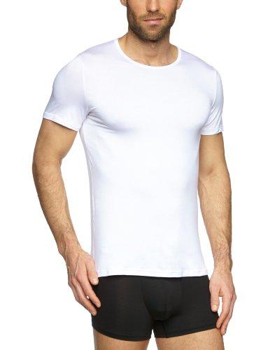HOM Herren Unterhemd Soft Silk Shirt 03, Gr. 50/52 (6), Weiß (WEISS)